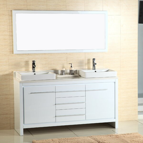Alexa 60 Double Vanity with Mirror by Adornus