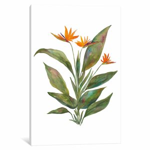 'Bright Bromeliad' Painting Print on Wrapped Canvas by East Urban Home