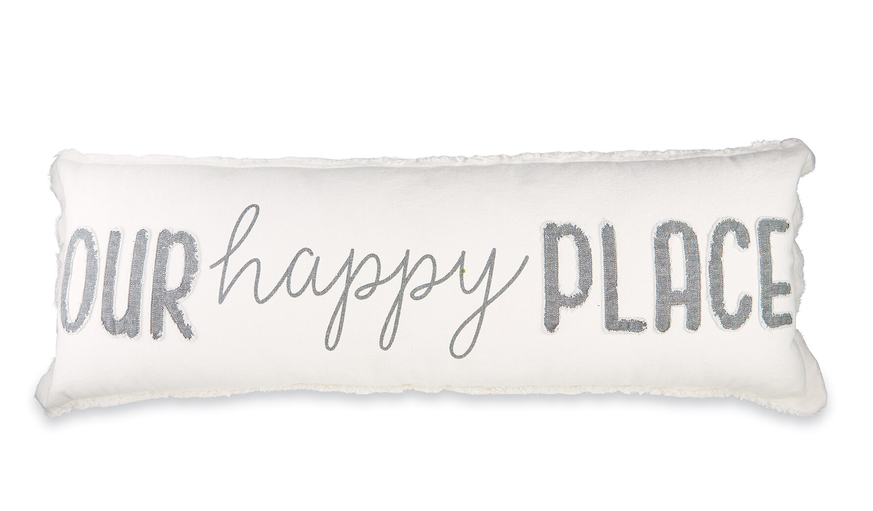 Mud Pie Our Happy Place Cotton Lumbar Pillow Reviews Wayfair