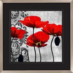 'Ornate Poppie' 2 Piece Graphic Art Set by Red Barrel Studio