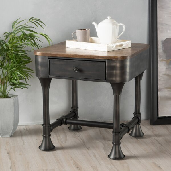 Piestewa Wood End Table by Trent Austin Design