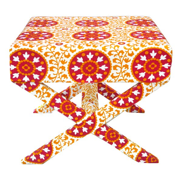 Suzani X Style Accent Stool by Divine Designs