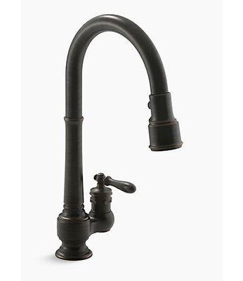 Kohler Sink Faucet Single Kitchen Magnetic Docking System Sprayhead Featuring Sweep Faucets