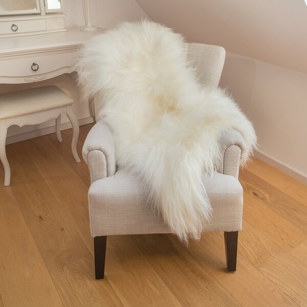 Augustin Sheepskin White/Ivory Area Rug by Willa A
