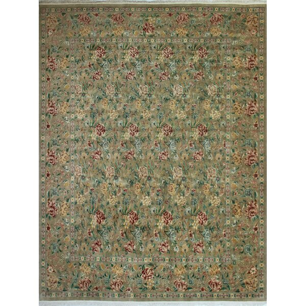 One-of-a-Kind Massimo Hand-Knotted Beige 11'10 x 15'1 Wool Area Rug