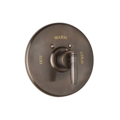 Thermostatic Mixer Trim with Metal Lever in Satin Nickel by Rohl