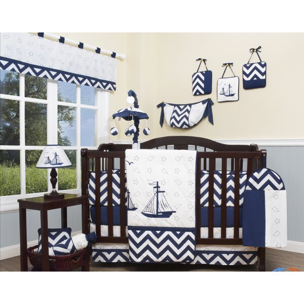 Explorer Nautical 13 Piece Crib Bedding Set by Gee
