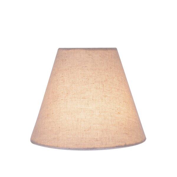 5 H Linen Empire Lamp Shade ( Clip On ) in Light Gray (Set of 2)