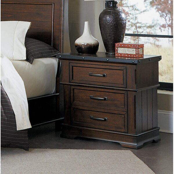 Donnelly 3 Drawer Nightstand by Millwood Pines Millwood Pines