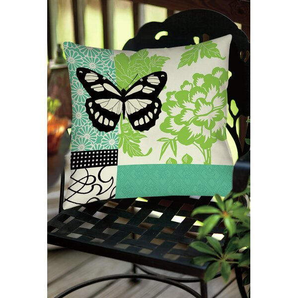 Butterfly Journey 2 Indoor/Outdoor Throw Pillow by Manual Woodworkers & Weavers