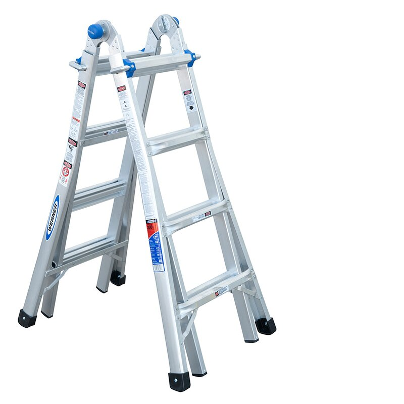 17 ft Aluminum Telescoping Multi-Position Ladder