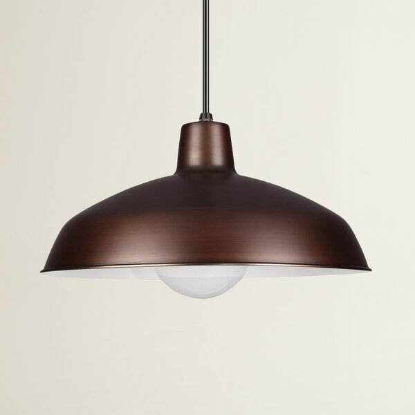 Henn 1-Light Dome Pendant by Wrought Studio