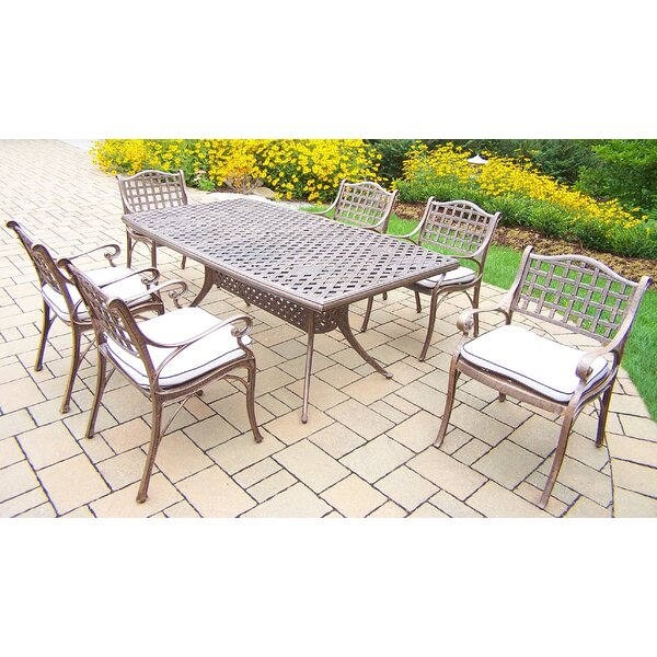 Thelma 7 Piece Traditional Dining Set with Cushions by Astoria Grand