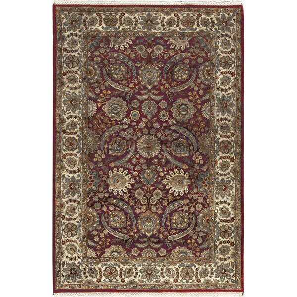 One-of-a-Kind Bikaner Hand-Knotted Wool Red/Gold Area Rug by Bokara Rug Co., Inc.