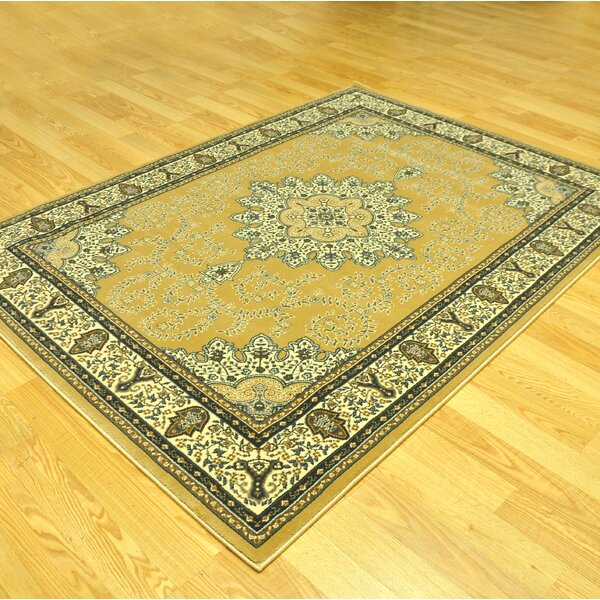 Lotie  Oriental Beige/Yellow Area Rug by Darby Home Co