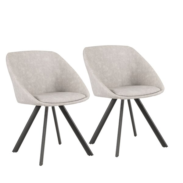 Lewallen Upholstered Dining Chair (Set of 2) by Mercury Row