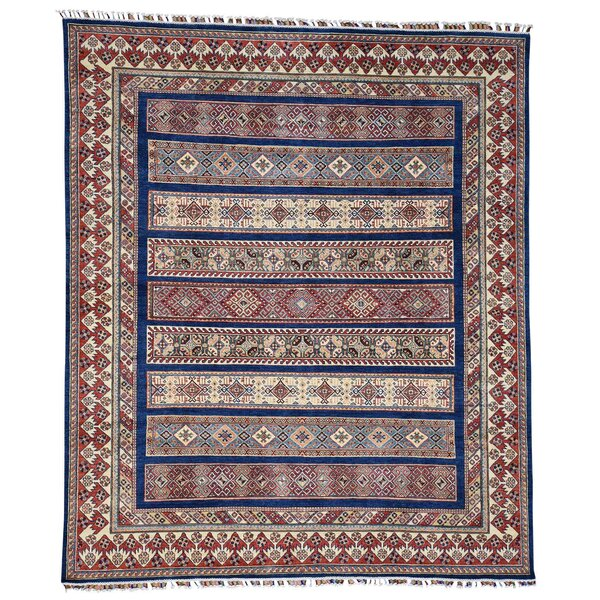 One-of-a-Kind Tillman Special Khorjin Hand-Knotted Navy Blue/Red Area Rug by Millwood Pines