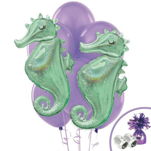 13 Piece Wishful Mermaid Jumbo Bouquet Latex Disposable Balloon Weight Set [NA]