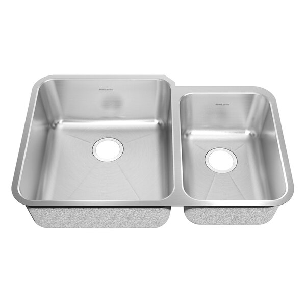 Prevoir 38 L x 25.25 W Double Basin Undermount Kitchen Sink by American Standard