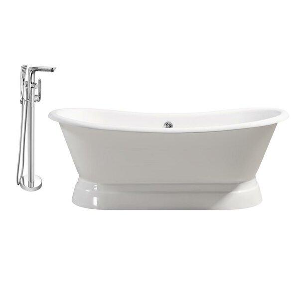 Cast Iron 71 x 31 Freestanding Soaking Bathtub by Streamline Bath