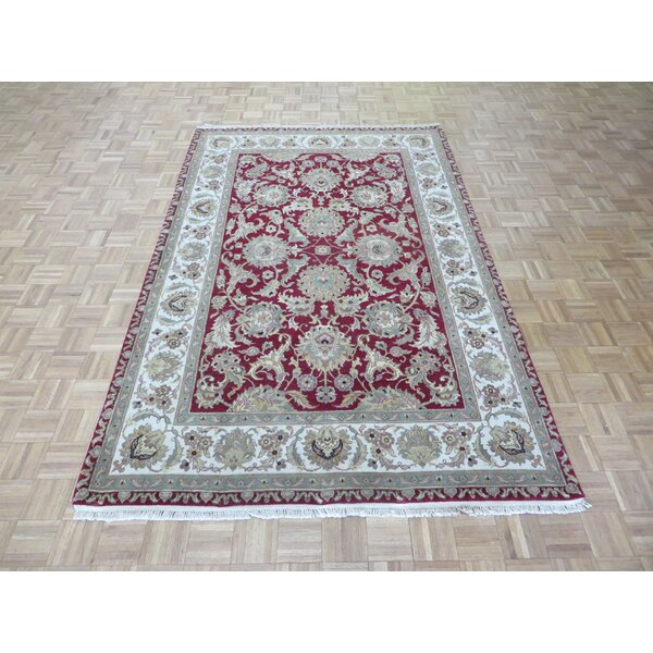 One-of-a-Kind Railey Hand-Knotted Red Area Rug by Astoria Grand