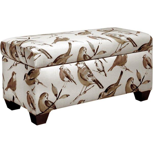 Sloane Polyester Upholstered Storage Bench by Skyline Furniture