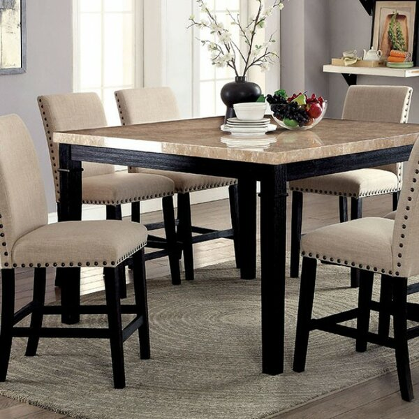 Arick Square Marble Top Counter Height Dining Table by Darby Home Co