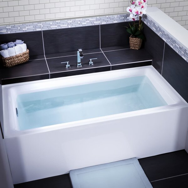 Vitality 60 x 30 Three Wall Alcove Soaking Bathtub by Miseno