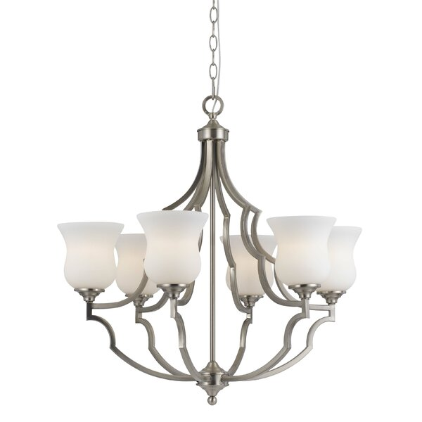 Juliette 6 - Light Shaded Empire Chandelier By Darby Home Co