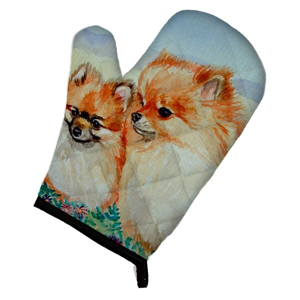 Pomeranian Oven Mitt by East Urban Home