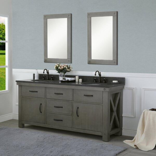 Cleora 72 Double Bathroom Vanity Set with Mirror by Williston Forge