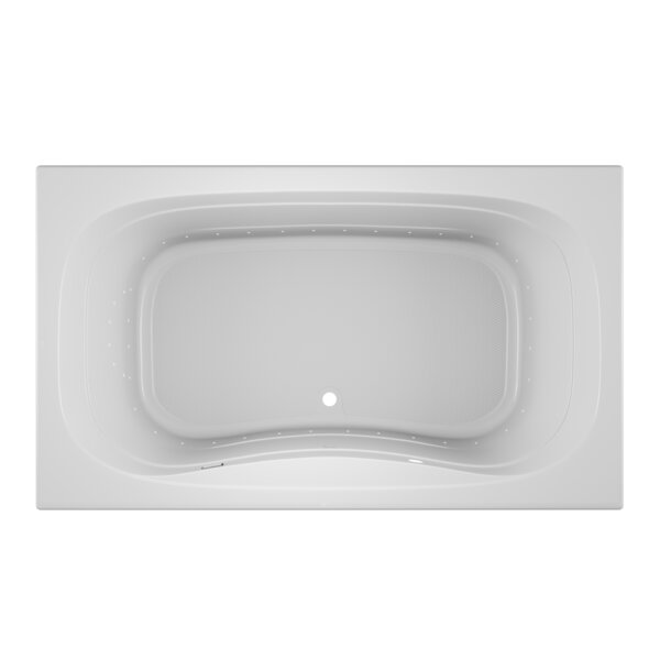 Signa Left-Hand 72 L x 42 W Drop In Pure Air Bathtub by Jacuzzi®