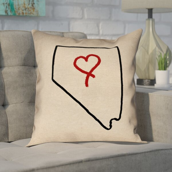 Giorgi State Love Outline in , Poly Twill Double Sided Print/Pillow Cover