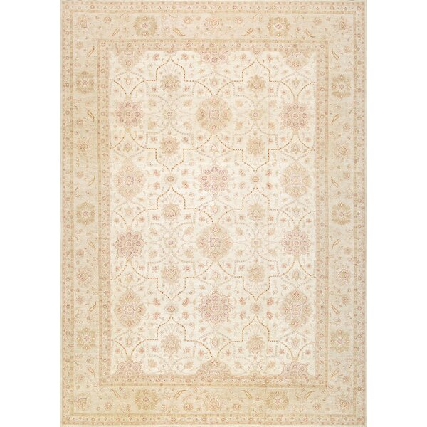 Ferehan Hand-Knotted Ivory Area Rug by Pasargad