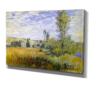 'Landscape at Vetheuil' by Vincent Van Gogh Painting Print on Wrapped Canvas by Wexford Home
