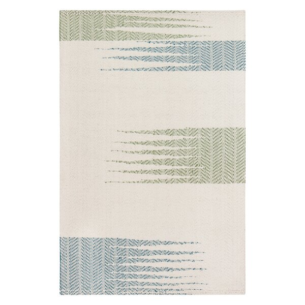 Fenderson Abstract Hand-Woven Ivory Area Rug by Bungalow Rose