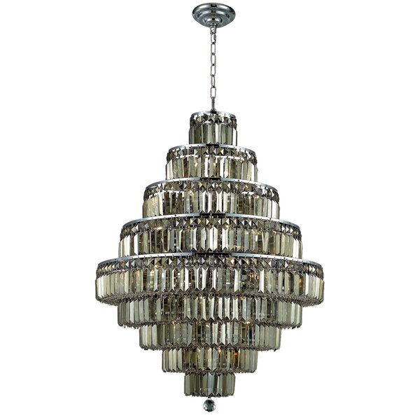 Langer 20 - Light Unique/Statement Tiered Chandelier by House of Hampton House of Hampton