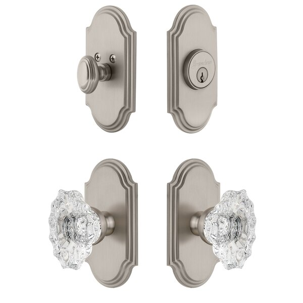 Arc Single Cylinder Knob Combo Pack with Biarritz Knob by Grandeur
