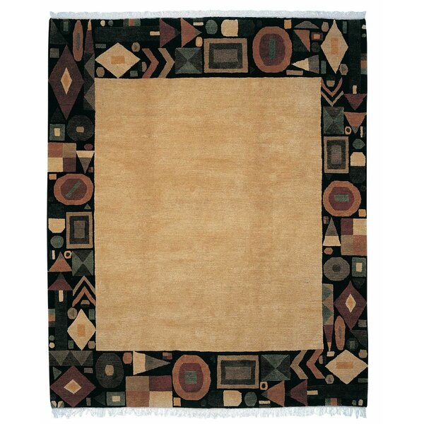Geometry Wool Beige Area Rug