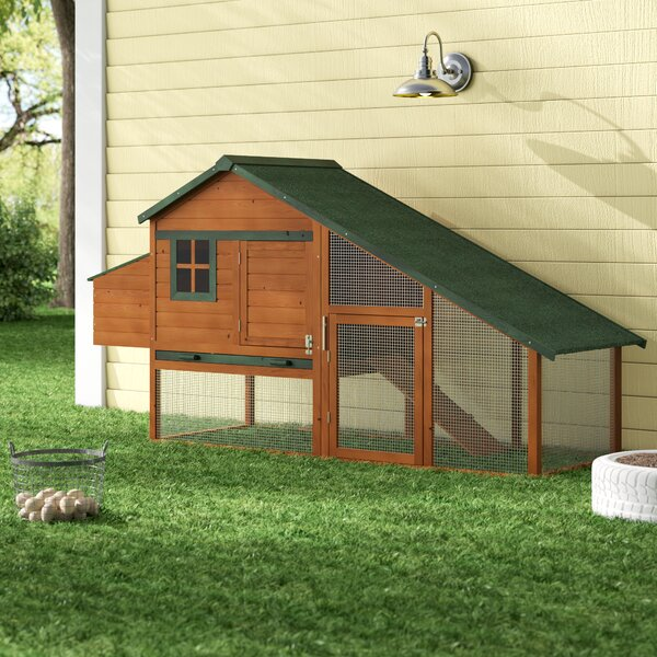 Hentz Wooden Backyard Slant Roof Hen House Chicken