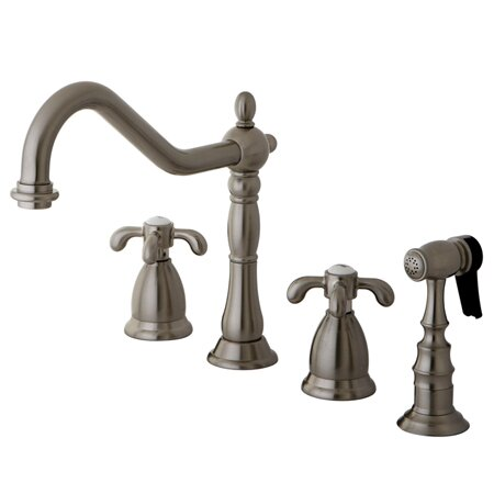 French Country Double Handle Kitchen Faucet by Kingston Brass
