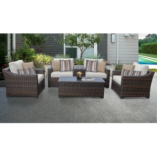 Superieur Kathy Ireland Homes U0026 Gardens River Brook 6 Piece Outdoor Wicker Patio  Furniture Set 06a