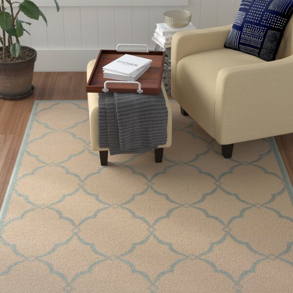 Miesha Cream/Aqua Area Rug by Red Barrel Studio