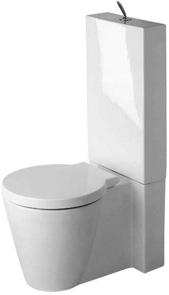 Starck 1 Dual-Flush Elongated Toilet Bowl (Seat Not Included) by Duravit