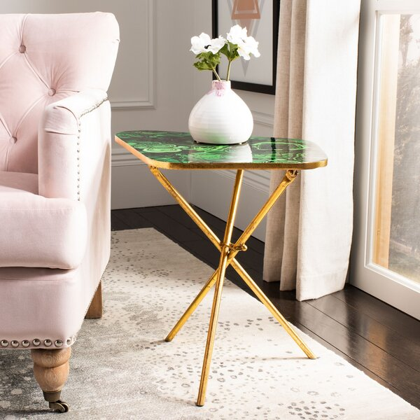 Agate 3 Legs End Table By Everly Quinn