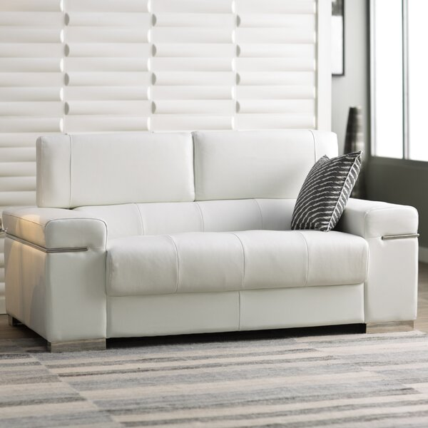 Orlando Leather Loveseat by Wade Logan