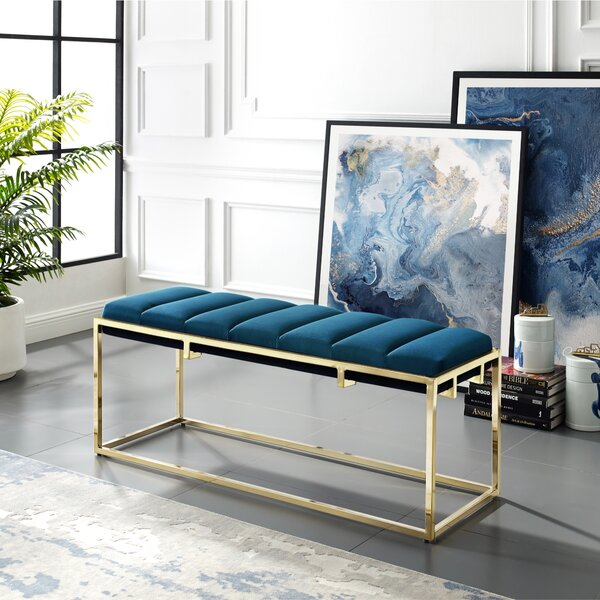 Kylen Upholstered Bench by Nicole Miller Nicole Miller