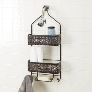 Griffin 2-Shelf Shower Caddy with Soap Holder