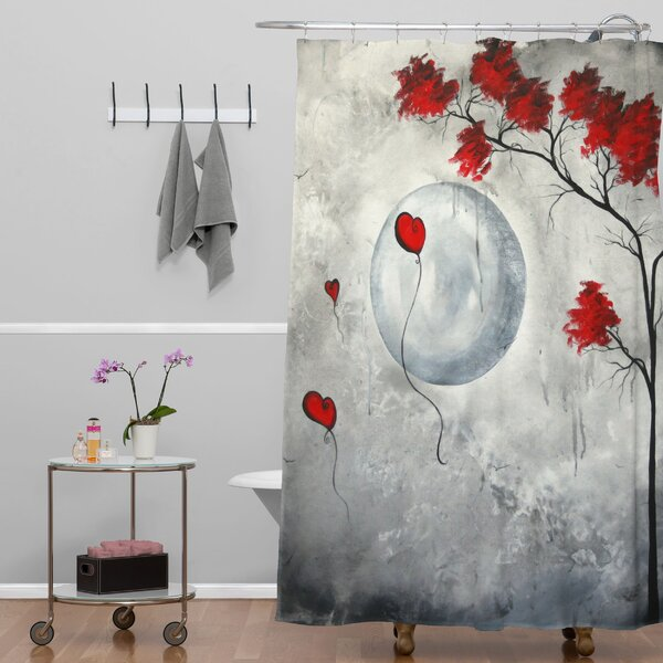 Far Side Of The Moon Shower Curtain by East Urban Home