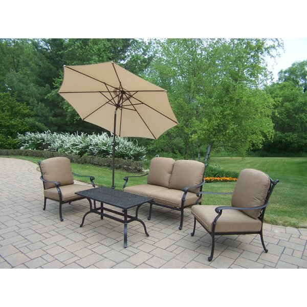 Bosch 6 Piece Sunbrella Sofa Set with Cushions by Darby Home Co